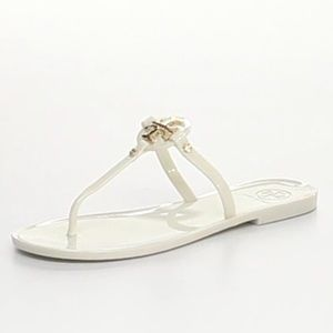Tory Burch Mini Miller Jelly Thong Sandal, Ivory